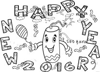 happy new year fireworks coloring pages printable for kids