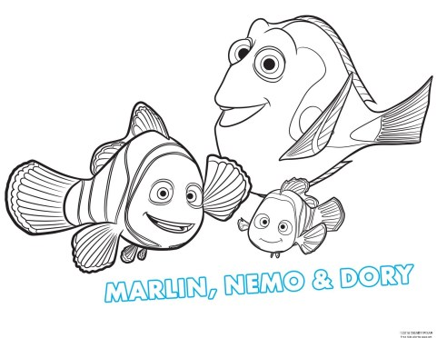 Awesome Coloring Sheet : printable nemo and her friends