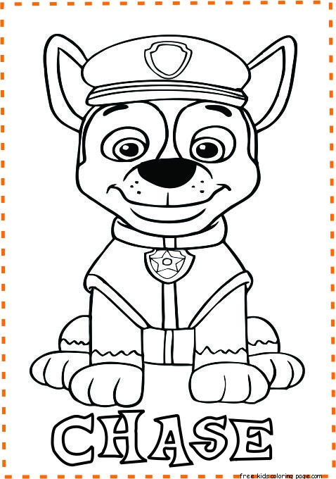 print out paw patrol chase coloring pages - Free Printable ...