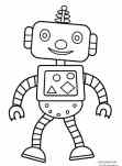 robot coloring page for kids printable