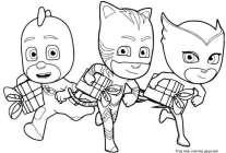 gekko pj mask coloring sheet catboy owlette