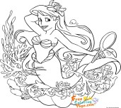 cute ariel mermaid coloring sheets for girls print out
