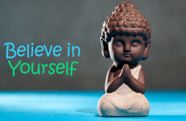 Buddha figurine: Believe in Yourself