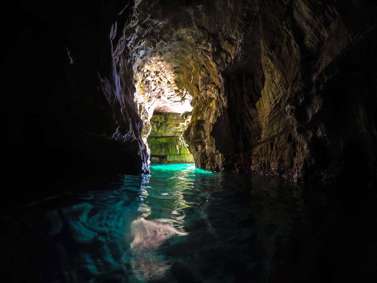 The hidden sea cave in pula croatia
