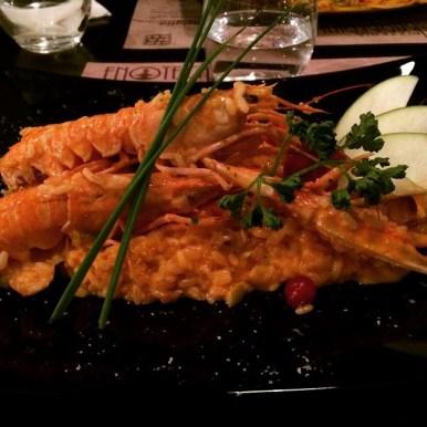 Risotto with prawns at Enoteca Barberini