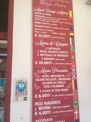 Menu of L'osteria del Borgo Antico in Bari