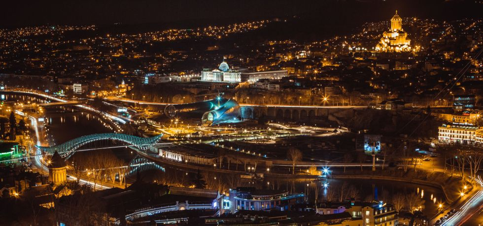 Tbilisi panorama at night