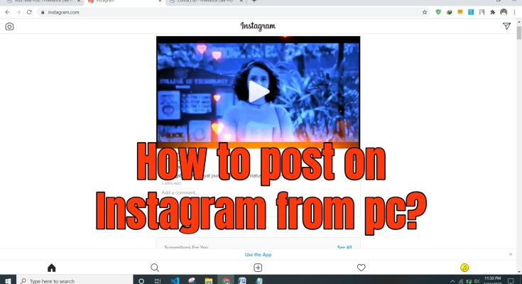 How to post on Instagram from pc? - upload photo video story live from pc chrome