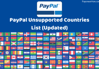 PayPal Unsupported Countries List