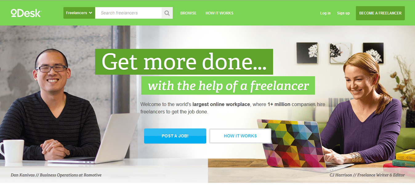 odesk homepage