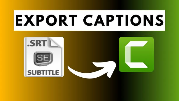 how to Export Captions or subtitles in Camtasia