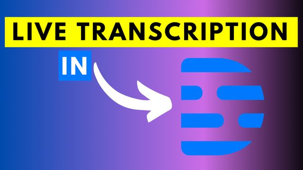How to Enable or Disable Live Transcription in Descript for Windows