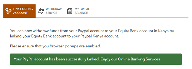 PayPal Successfully Linked to Equity