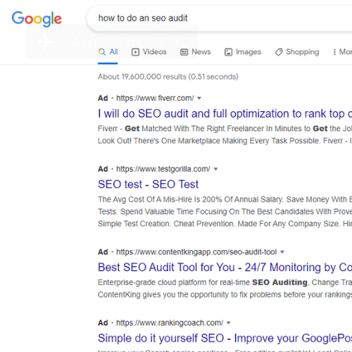 content marketing strategy keyword research on Google