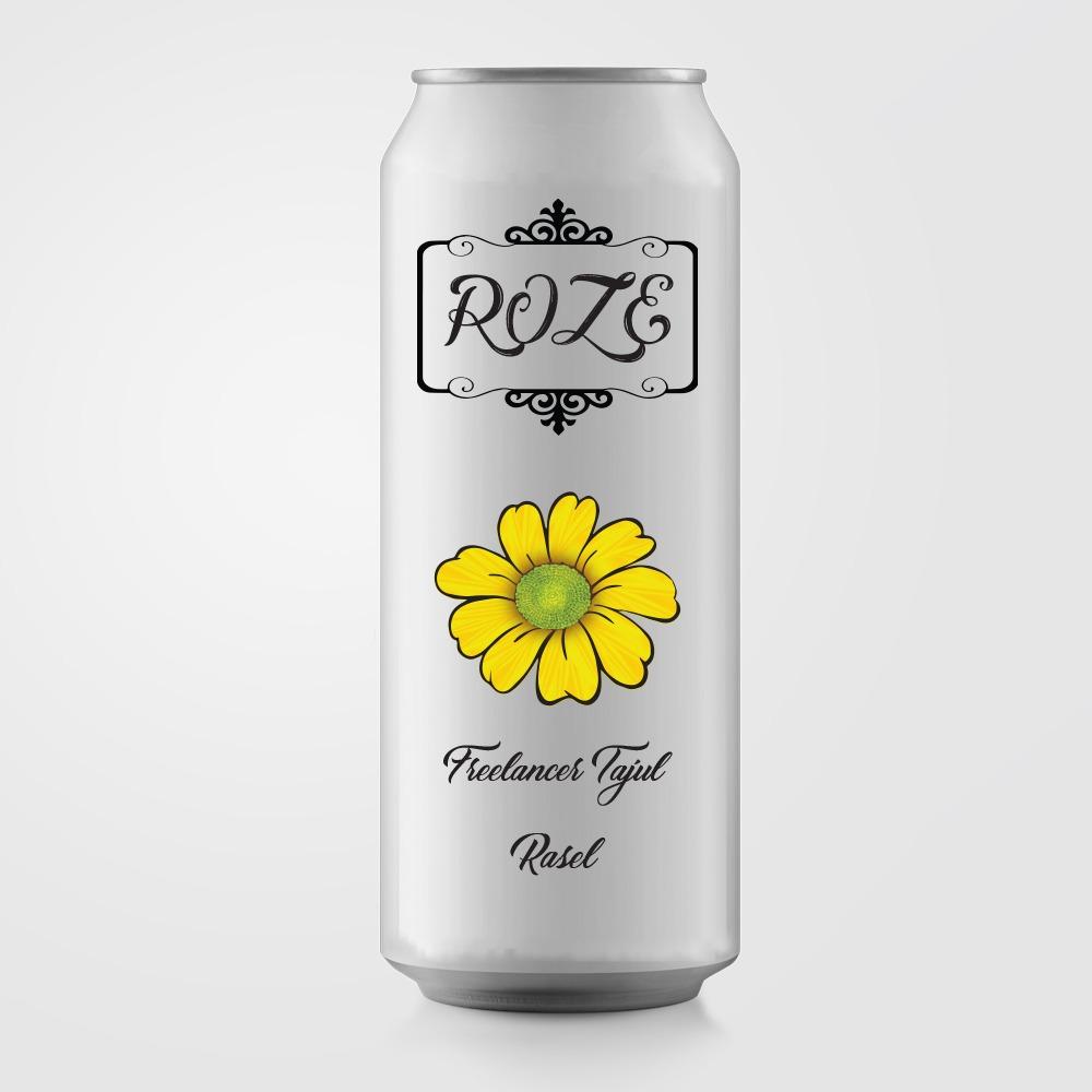 Can Bottle Label Design