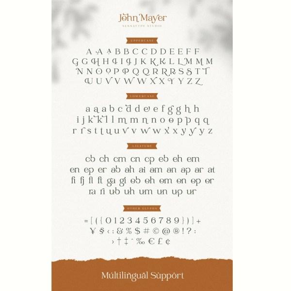 John Mayer Fancy Ligature Font