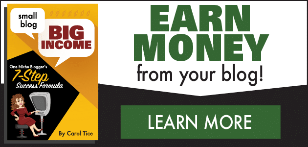 Small Blog Big Income - Learn More about the eBook