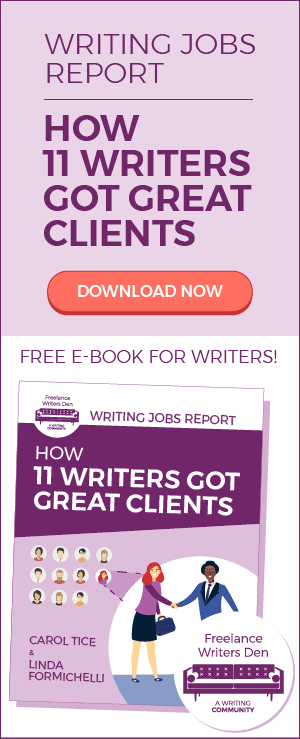 Writing Jobs Report: How 11 Writers Got Great Clients. Free e-Book for Writers.