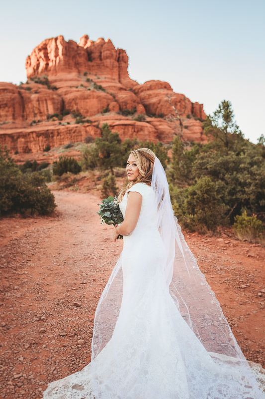 Sedona bride photography at the base of Bell Rock