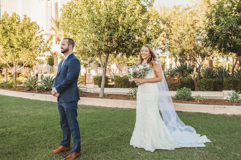 LDS wedding bridal photos at Gilbert Temple