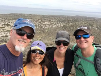 Happy hikers on San Quintín