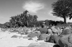 Rock cairns in Chamela