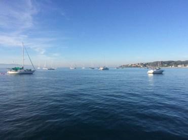 The anchorage at La Cruz