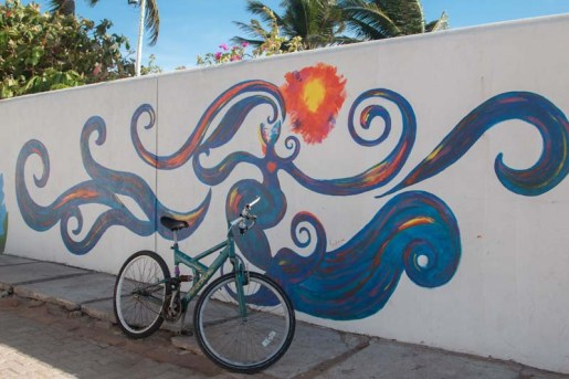 Many murals in Barra