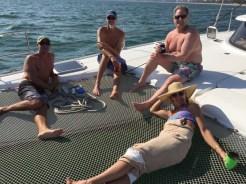 Everyone enjoying da boat