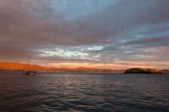 S/V Mango at sunset