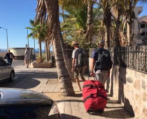 Lugging luggage through Loreto