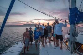 WCM Rally crew at sunset at Islas Coronados