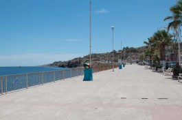 The malecon - looks exactly like Abreojos, PV, La Paz...