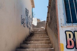 Santa Rosalia is quite hilly, so many stairways