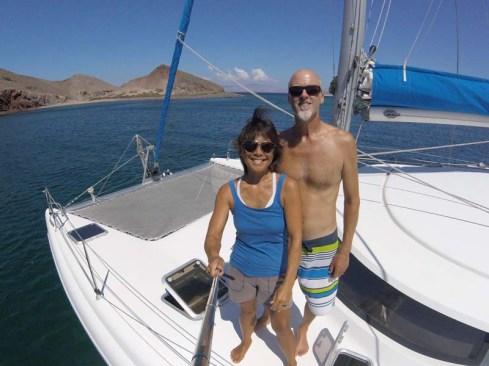Anchored in the gap between Isla Pata and Isla Bota. BITEY!