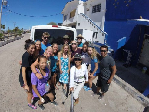 Another one of Simon's UCSD kayaking groups in the BLA Village