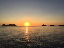 Sunrise over Isla Estanque on the southeast side of La Guarda