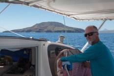 Rounding Islas Los Coronados en route to Pto Esco