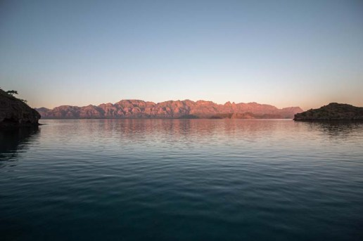 Looking back at The Baja from Isla Danzante