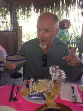 Capt. Rand enjoying a scrumptious lunch (PC Jason)