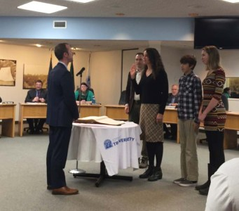 Michele gets sworn in as a new TC City Commissioner