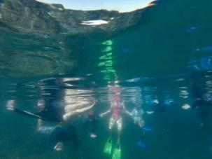 Group snorkeling shot - haha!