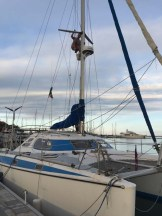 No trip to La Paz would be complete without boat projects - David on Striker taking care of business