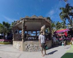 The plaza at La Manz