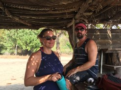 Brenda and Jeff take a breather