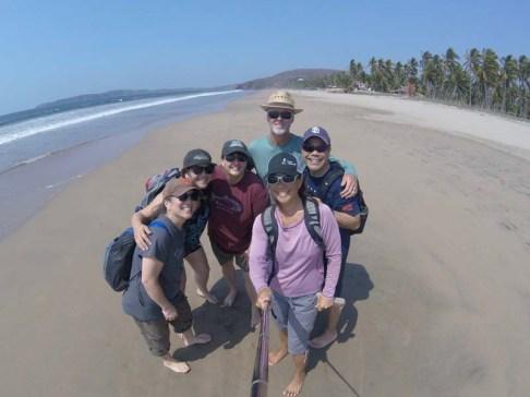 Beach walker selfie