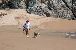 Vicki and Maya enjoying Secret Beach