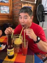 Back at Ramon's, triple strawed