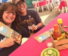 Enjoying nachos at, um, well, Nacho's in Barra