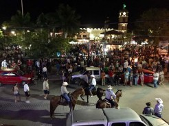 The Melaqu square during the festivities - everyone survived as far as we know